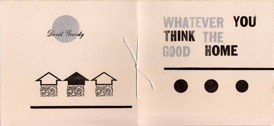 WHATEVER YOU THINK THE GOOD HOME